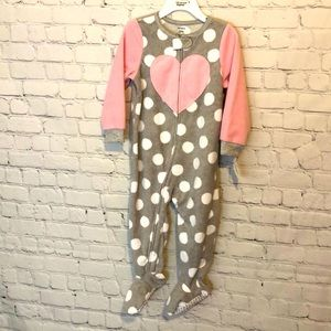 NWT CARTERS GIRLS FOOTED PAJAMAS PINK SOFT SZ 24M